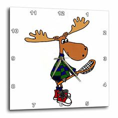 All Smiles Art Sports and Hobbies - Funny Moose with LaCrosse Stick Art - 13x13 Wall Clock (dpp_224760_2) 3dRose http://www.amazon.com/dp/B0184NYKG4/ref=cm_sw_r_pi_dp_Sic4wb1EPRAXC