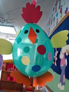 Maro's kindergarten: Πασχαλινά κοτοπουλάκια - μπαλόνια!