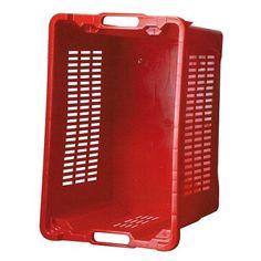 Prepravka ICS M401000 • 40 lit, 56x35x31 cm, perforované steny, červená Magazine Rack, Storage, Furniture, Home Decor, Homemade Home Decor, Larger, Home Furnishings, Decoration Home, Arredamento