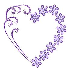 Heart Flower Swirl Valentine Paper Embroidery Pattern for by Darse, $1.50
