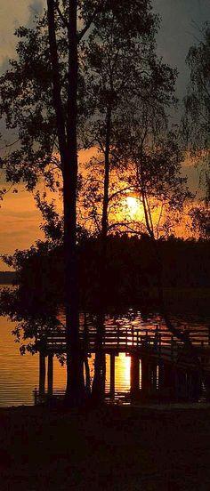 BEAUTIFUL SUNSET   #photo by ceciliapertino #landscape nature tree reflection lake amazing