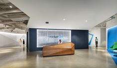 "Rocket Fuel is a popular media-buying platform that helps brands improve their marketing ROI. Recently, Rocket Fuel moved into a new Chicago office, designed by Partners by Design. ""The open . Open Space Office, Office Space Design, Modern Office Design, Office Furniture Design, Workplace Design, Modern Interior Design, Modern Offices, Healthcare Design, Corporate Interiors"