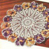 several vintage doily patterns - Pansy Doily - Free Crochet Doily Pattern