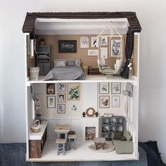 Miniature dollhouse♡ ♡ By cosydollhouse If you used to be obsessed - you know you once tried to make a DIY dollhouse - check out these 20 dollhouses that'll make you wish you could fit inside. Barbie dolls houses, all aspects traditional timber reside