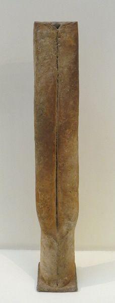 JACQUELINE LERATColonne dédoublée en haut sur socle, 1998, height 80 cm (not in catalogue) - JL041