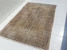 Vintage Oushak Rug,Pastel Oushak rug,Handwoven Area Rug,Overdyed Rugs,floor rug, faded carpet,Home living, Turkish handmade carpet 6'9x4'3ft by Simavrug on Etsy