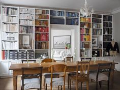 Wall of bookcases (I've been loving the dining room/library lately!)