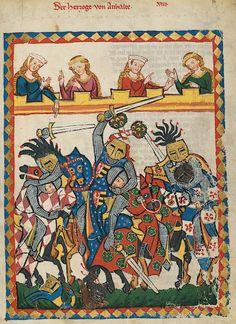Manesse Codex - (1300 - 1340) Der Herzog von Anhalt