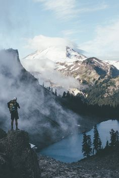 w-canvas:    Hiking on Mt. Baker. by Dylan Furst