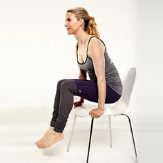 7 Flat Belly Exercises That You Can Do In a Chair |