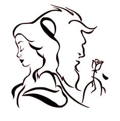 A Bela e a Fera (Artes) Beauty and the Beast (Art) Beauty And The Beast Drawing, Beauty And The Beast Silhouette, Disney Beauty And The Beast, Beauty Beast, Beauty And The Beast Tattoos, Beauty And The Beast Wallpaper, Disney Tattoos, Disney Stencils, Beast Quotes
