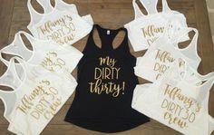 30th birthday dirty 30 30th birthday shirts by WifeLifeDesigns