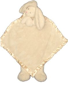 "Ellis Baby/kids Plush Blanket -Super Soft Baby Security Blanket 30""x30"" Beige Bunny Baby Lovie Banky Blankie Toy by Plush Image. Save 18 Off!. $33.50. Glass eyes, Head rest on stitched hands on the top, feet hang loosely on the bottom. Can wrap around baby or/and can use it as full size blanket for baby or kid. Machine washable,cold water, no bleach,  tumble dry. Color: Beige , Size 30"" x 30"", satin trimmed four edges. Great gifts. Ellis baby/kids blanket has the most luxurious and ultra ..."