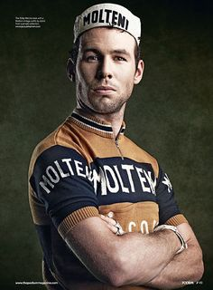 Mark Cavendish /by John Wright --> Love the old school look in Molteni kit