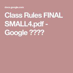 Class Rules FINAL SMALL4.pdf - Google 드라이브