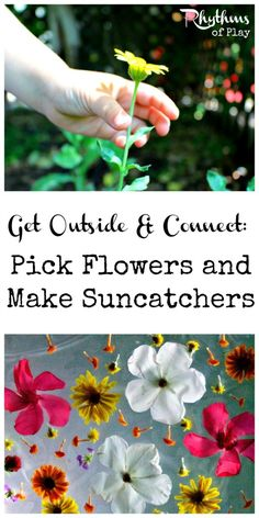 Get outside and pick flowers then make a suncatcher out of them. It's an outdoor activity, fine motor activity, sensory activity, craft and botany unit all rolled into one! Includes links to several awesome examples to choose from.