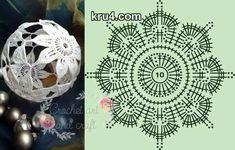 Zdjęcie użytkownika Crochet art and craft. Art Au Crochet, Crochet Ball, Crochet Motifs, Crochet Chart, Thread Crochet, Irish Crochet, Crochet Doilies, Crochet Flowers, Crochet Christmas Decorations