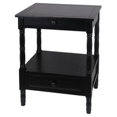Check out this item at One Kings Lane! Lydia Accent Table, Black