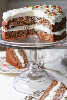 Classic carrot cake flavor with a divine whipped gingered cream cheese frosting. | Low carb, gluten-free, grain-free, Keto, THM-s with a dairy-free frosting option | momcanihavethat.com