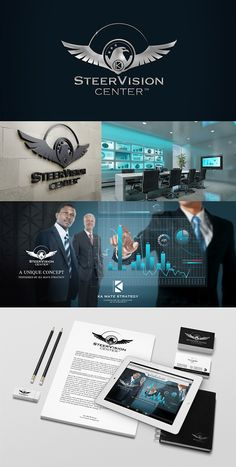 Identité visuelle SteerVision Center - KA MATE STRATEGY #logodesign