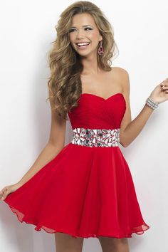 fe3e36d01ca4 MZ0037 Cheap 2014 A-Line Strapless Crystals Hot Red Chiffon Short Sexy  Cocktail Dresses Free