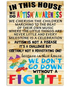 Autism Awareness Poster - In this house