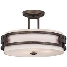 "Del Ray 17 1/2"" Wide Flemish Bronze Ceiling Light"