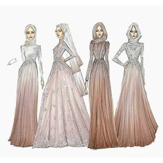 Trendy fashion sketches inspiration haute couture Ideas Source by dresses muslim Illustration Mode, Fashion Illustration Sketches, Fashion Sketches, Illustrations, Hijab Fashion 2016, Fashion Art, Trendy Fashion, Dress Fashion, Fashion Clothes