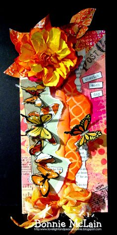 Love Light and Peace: Butterflies and Flowers... for Frilly and Funky using TH/Ranger and Sizzix products; July 2014