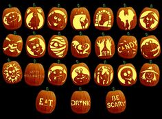 Scary Pumpkin Carving Patterns | Mr. Hurst Technology: Carve your own pumpkin!