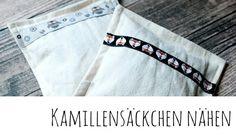 Kamillesäckchen selber machen, Kamillesäckchen nähen - kostenlose Nähanleitung auf meinem Blog