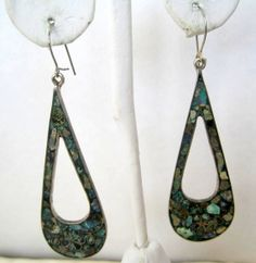 Vintage Sterling Silver Turquoise Inlaid by VintagObsessions, $20.00