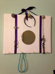 Great way to store headbands ponytails scarfs necklaces and so much more