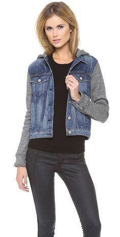 Rag & Bone/JEAN The Jean Jacket with Hood | SHOPBOP | Use Code: INTHEFAMILY25 for 25% Off
