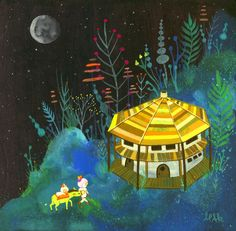 Moon Sanctuary Limited Edition Print by APAK. $30.00, via Etsy.