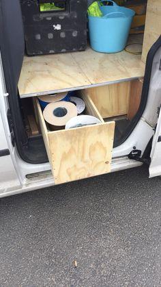 Caddy racking ideas van racking Van Storage, Tool Storage, Caddy Van, Van Shelving, Van Racking, Carpentry, Vw, Filter, Clever