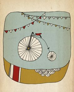 bicycles and bunting