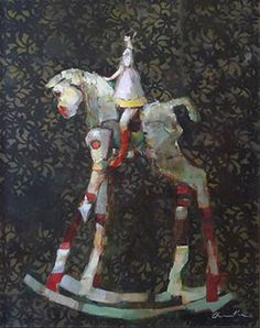 Rocking Horse - Painting by Pascale Chandler