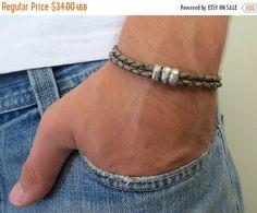 ON SALE 15% OFF Jim Brown Men's Bracelet - Men Beaded Bracelet - Men Leather Bracelet - Men's Jewelry - Men Bracelet - Men Jewelry - Men's G