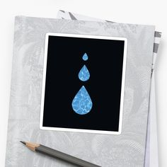 'Water Drops Abstract - Water sign - The Five Elements Abstract  Symbol' Sticker by thewishdesigns