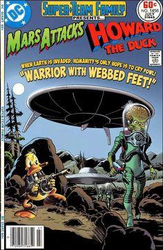 #dc #dccomics #marvel #marvelcomics #superteamfamily #comicbooks #covers #superheroes #comicwhisperer #comiccovers #marsattacks #howardtheduck