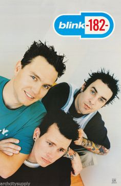 Blink 182 Band Rare Vintage Poster omg good times they were plastered all over my wall Blink 182 Poster, Arte Punk, Tom Delonge, Mayday Parade Lyrics, The Amity Affliction, Band Posters, Grunge, Music Stuff, Music Bands