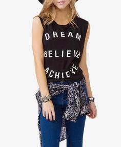 """Dream Believe Achieve"" Tank | FOREVER21 - 2034899313"