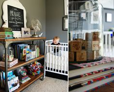 Love the eclectic vintage feel of this nursery. Just my style. Project Nursery - BAYLOR_NURSERY_HEN&CO5