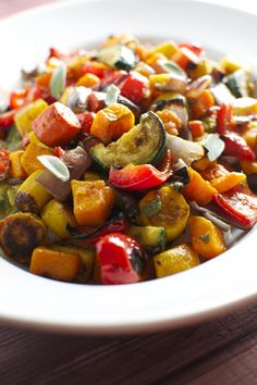 Roasted Vegetables with Sage and Maple Syrup