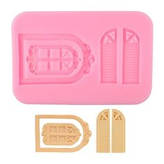 """Delidge Vintage Fairy Garden Fairy or Gnome Home Door and Window Silicone Mold for Sugarcraft, Chocolate, Fondant, Resin, Polymer Clay, Soap Making,Silicone Sugarcraft Mold Gumpaste(Color Random)  1.Suitable for microwave oven, oven, dishwasher, refrigerator  2.Ultra wide temperature range from minus 60 degrees to 440 degrees.  3.With """"Non-Stick"""" characteristics, food raw materials will not stick to the surface of silica gel  4.Creative design, colorful, fun, low carbon, environmental ..."""