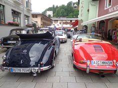 Startaufstellung in der Fußgängerzone von Berchtesgaden.