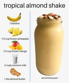 Yummy Smoothie Recipes, Healthy Juice Recipes, Yummy Smoothies, Healthy Juices, Shake Recipes, Smoothie Diet, Healthy Drinks, Healthy Snacks, Breakfast Smoothies