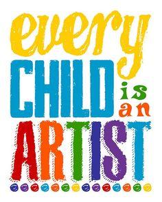 Every Child Is An Artist Sign. Displaying Kids Artwork, Artwork Display, Playroom Wall Decor, Playroom Storage, Storage Bins, Preschool Classroom, Classroom Walls, Classroom Displays, Preschool Art