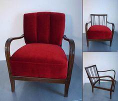 ie können diesen neu gepolsterten Sessel aus den 30er Jahren kaufen. Die Polsterung ist komplett neu gepolstert mit einem schönen Samtstoff. Trotz der edlen Anmutung ist der Stoff robust und pflegeleicht. 450 EUR (inkl. MwSt) bei Abholung in Naila